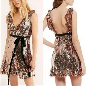NWT Free People Soren Sequin Dress - Size 6